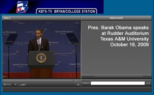 President Obama speaks at Texas A&M